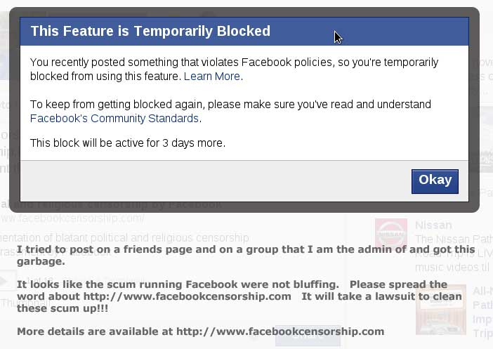 You blocked me on facebook now u are going to die