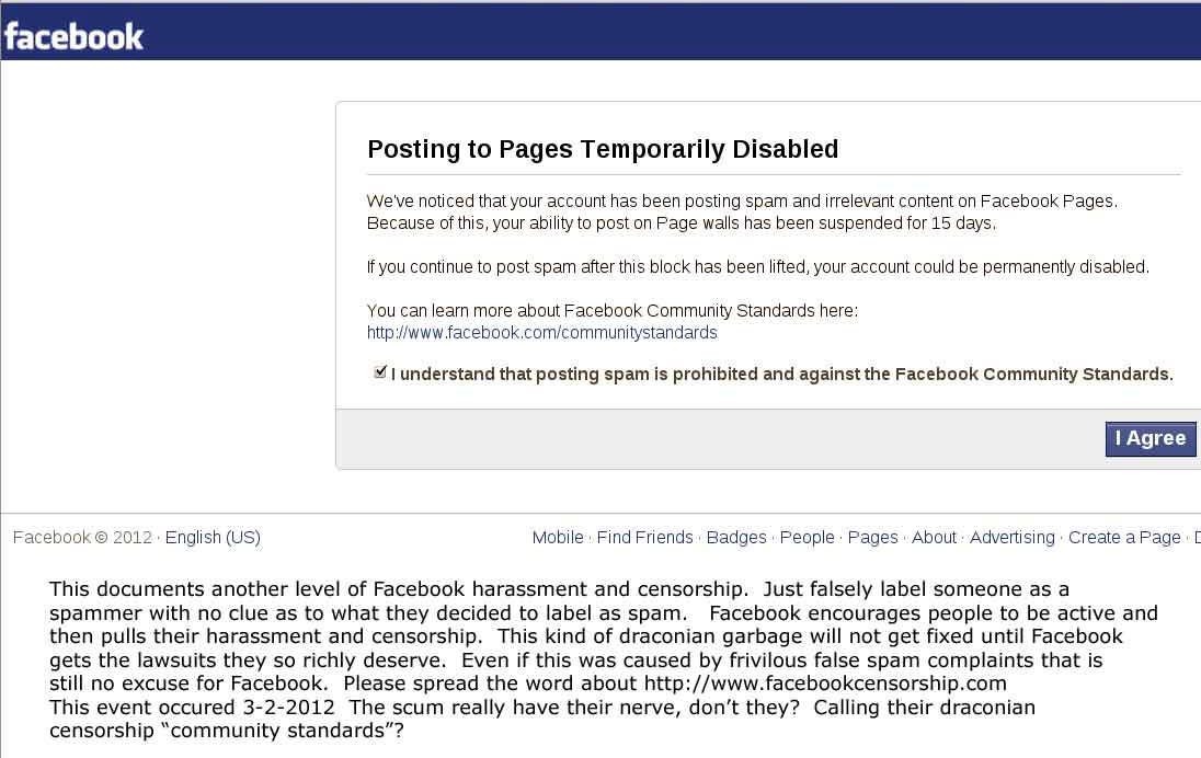Political and religious censorship by Facebook